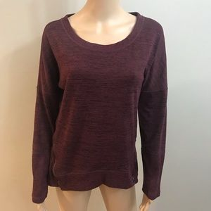 Athleta Crew Neck Sweater burgundy Sz M